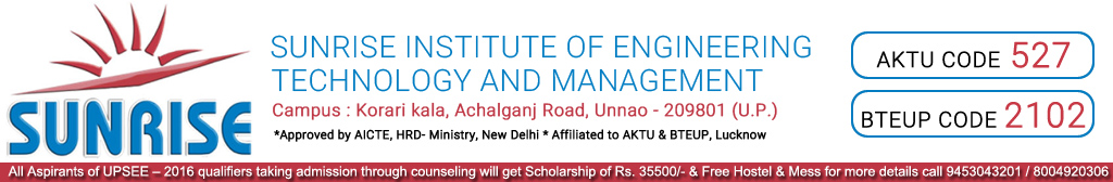 Sunrise Institute of Engineering Technology & Management